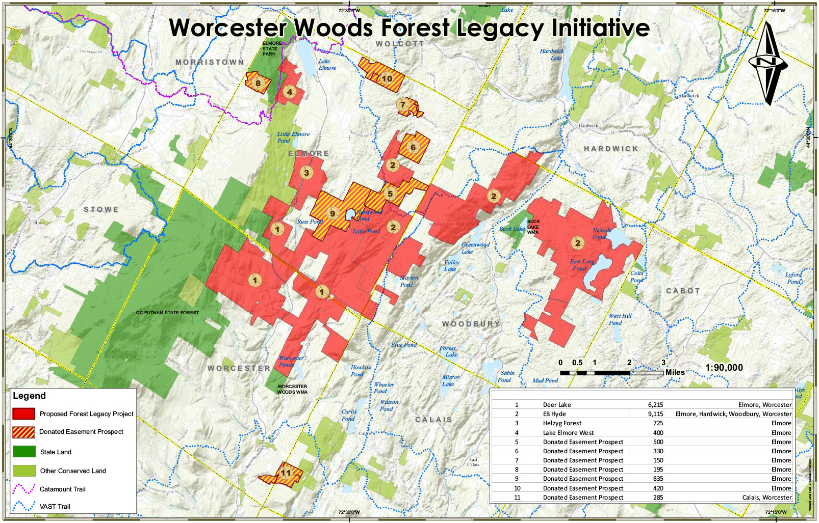 Land Trust GIS - Map us land acquisitions